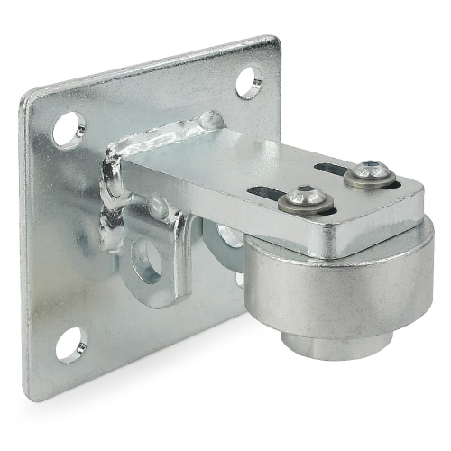 Swing gate bearing hinge with fixing plate
