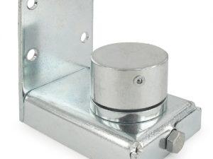 Lower bearing hinge for swing gate