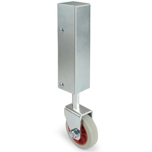 adjustable suspension wheel for swing gate